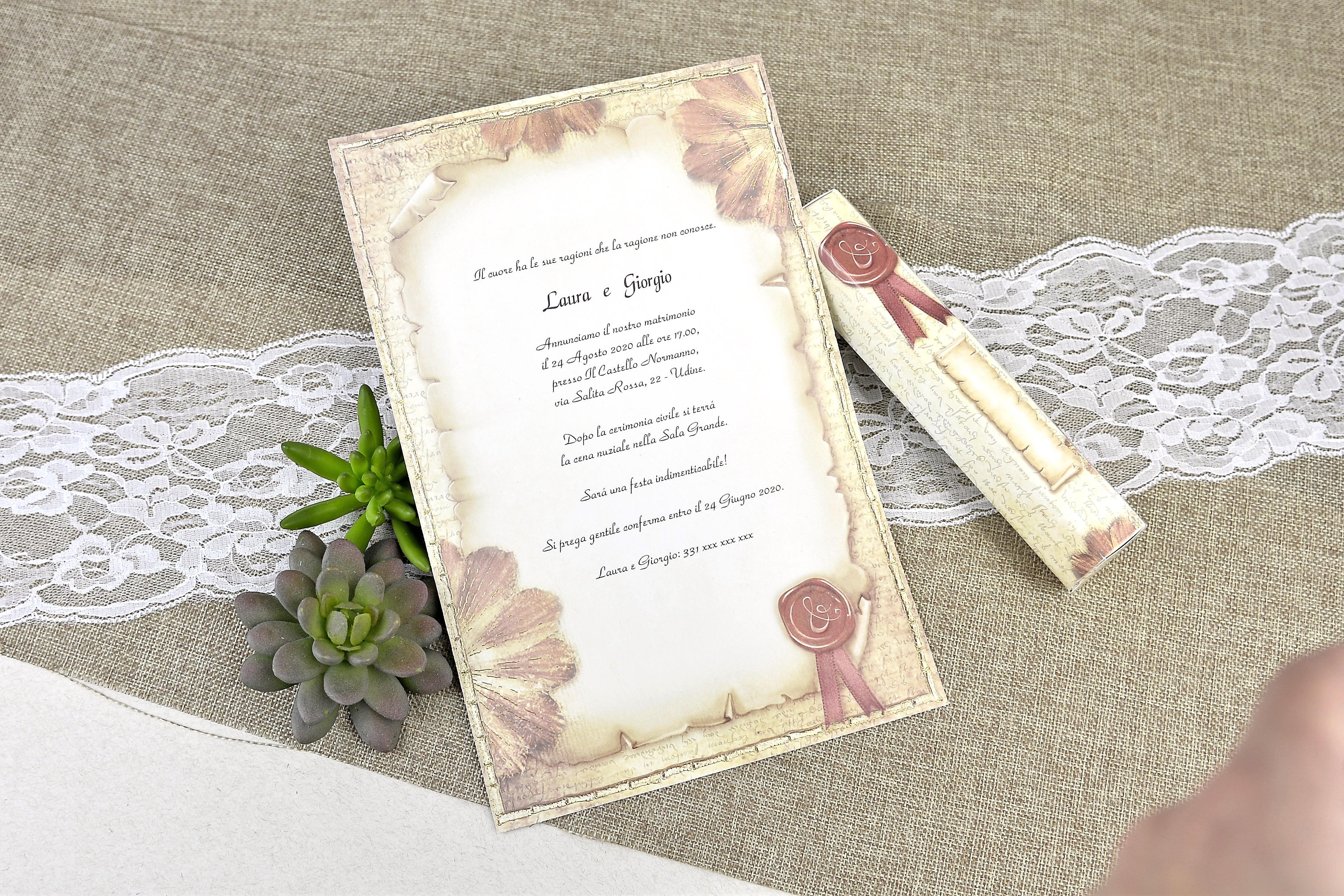 Partecipazioni Matrimonio Udine.Partecipazione Di Matrimonio 30114 Cartastyle