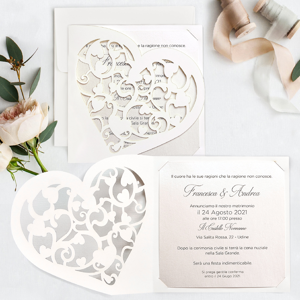Partecipazioni Matrimonio Udine.Partecipazione Elegante 39748 Cartastyle